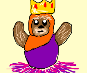 King ewok in a tutu