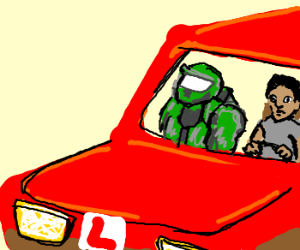 Master Chief as a driving instructor