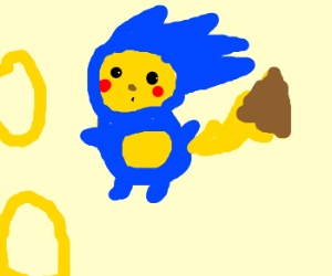 pikachu dressed up as sonic