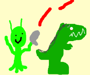 Dinosaurs hunted by aliens