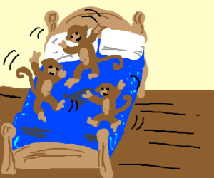 3 Little Monkeys Jumping On The Bed - Drawception