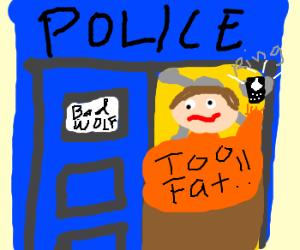 Fatman stuck in Tardis reaching 4 phone