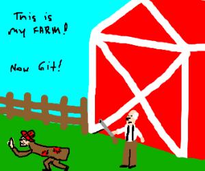 Hershel kicks hobo out of his land