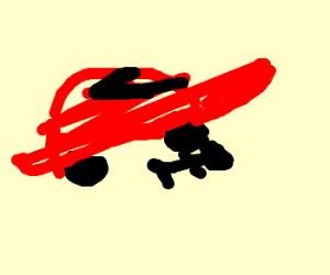 Car run over sleepin dog/man doesnt care