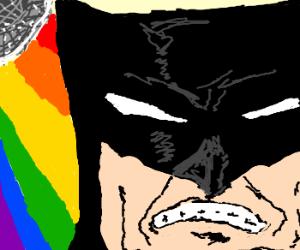 Batman hates the rainbow disco