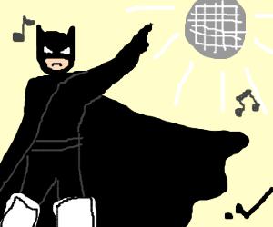 Batman Disco, but hes wearing hockeypads