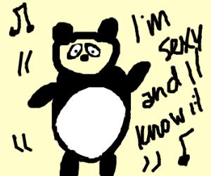 Panda dances to LMFAO