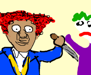Angry kid Stabs The Joker For Cheating