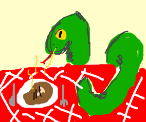 One-Eyed serpent wants some meat