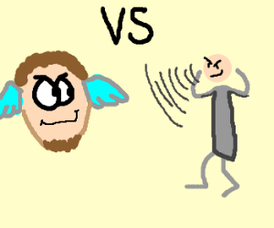 floating head vs mental guy