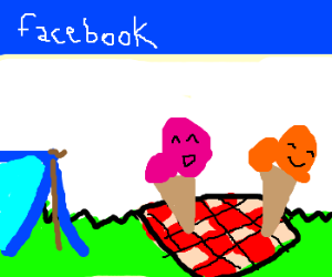 Facebook like campaing for ice cream