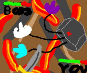 Nintendo 64 is final boss in Volcano