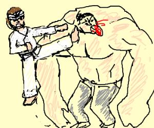 karate kid vs tank