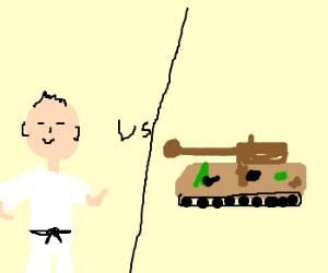 Japanese dude vs. tank