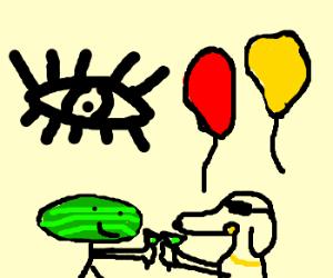 eye,watermelonhead,&dawg having party