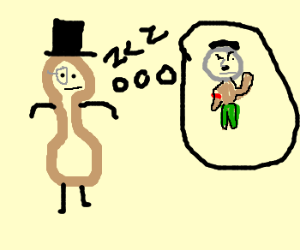 Mr. Peanut dreams of Hitler