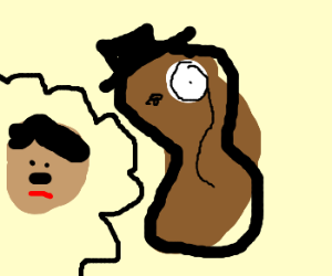 Mr Peanut dreams of being Hitler
