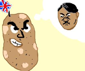 british potato thinks of dark hitler