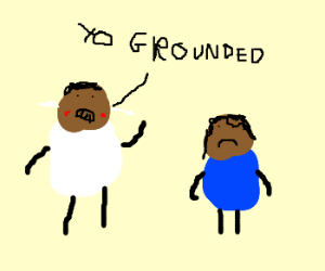 black kid is grounded