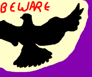 Beware the flying blackbirds!
