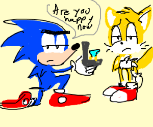 Sonic proposing to Tails
