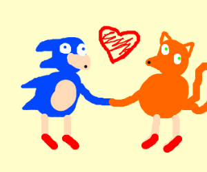 Sonic and Tails in love