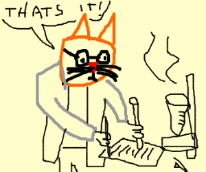 Genius cat develops sense of shame