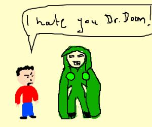 kid angry at Doom