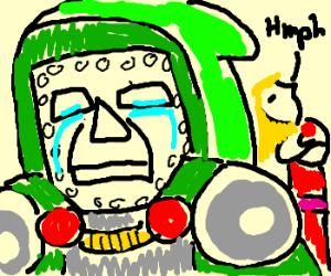 Dr Doom gets stood up. He cries