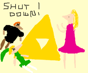 Ganondorflink is shut down by Zelda.