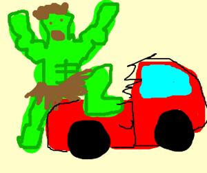 HULK SMASH CAR!