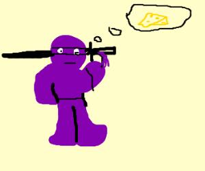 Purple Ninja Thinks About Chess