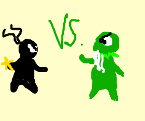 Ninja vs Long-bearded Kermit