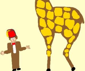 The Doctor wears fez to impress giraffe