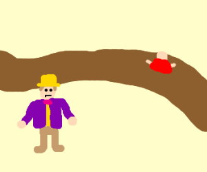 Willy Wonka's chocolate river.