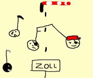 pirate musical notes cross the frontier