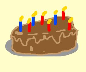 A simpletons birthday cake