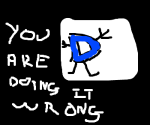 Can't draw so writes out the picture