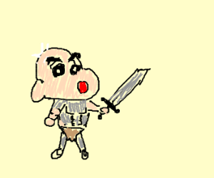 shin chan warrior and bald