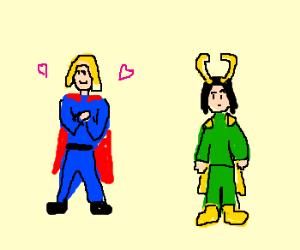 Thor has a crush on Loki