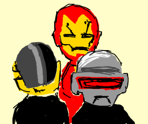 Iron Man is a new member of Daft Punk