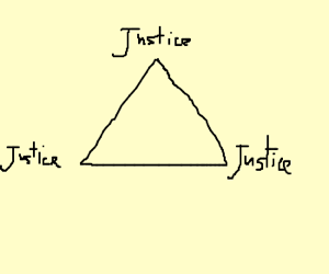The triangle of JUSTICE