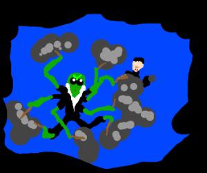 Octopus goes deep sea vampire hunting