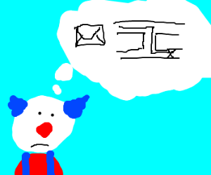 Clown Mailman Figures Out His Route