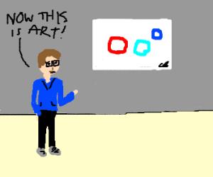 boy says that three circles were ART