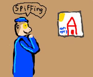 Art geek likes kindergartener's drawing