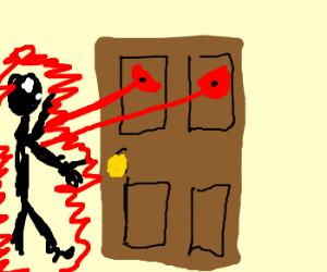Lazer Eyed Evil Door Kills You