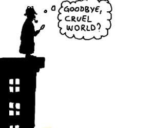 Sherlock Holmes contemplates suicide