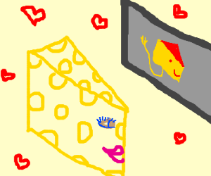 Female Swiss cheese tries online dating