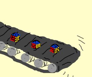 Rubik's cube assembly line